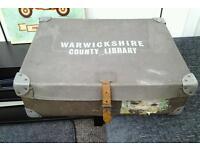 Vintage storage box / case warwickshire county library unusual