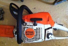 "STIHL MS251 18""inch bar , 2013 v g condition"