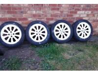 Vauxhall corsa d 16 inch alloy wheels in white