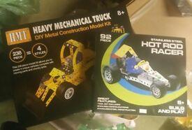 Racing car and Mechanical truck construction kit