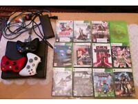 Xbox 360 console (250GB) with 12 games and 3 controllers
