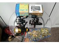 Job lot of fishing reels shed find