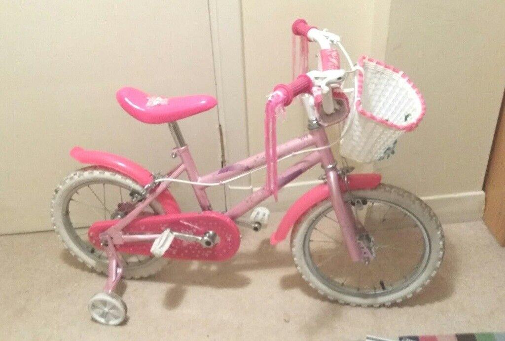 """Sparkle & Glitz Kids 16"""" Kids' Bike - Girls With Stabilisers"""