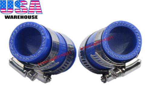 "High Temp Exhaust Clamps Blue 1""ID For Yamaha Blaster YFS 200 Dirt bike ATV 2PCS"
