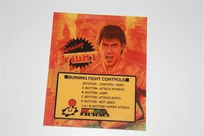 Arcade Neo Geo Mvs original BURNING FIGHT mini marquee neogeo jamma cab cabinet  ()