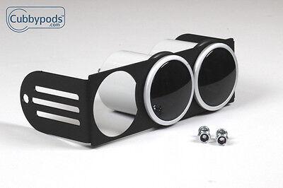 "PREMIUM Universal DIN Gauge Pod - 52mm (2-1/16"") triple pod radio mount"