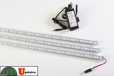 3x 20 Inch Linked Led Lights For 5ft 6ft Showcase With Ul Power U5630