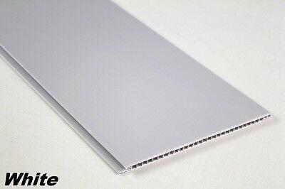 10 m2 PVC Paneele Deckenpaneele Wandpaneele Decke Platten 200x25cm, WHITE