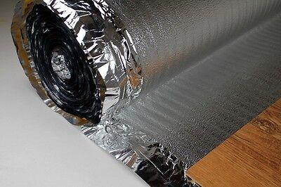 50 m2 Trittschalldämmung Alu Dampfsperre für Laminat Parkett, SILVER PLUS 2 mm