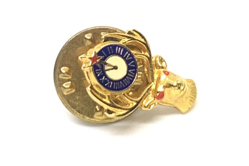 Elks Lodge BPOE Deer Enamel Gold Tone Vtg Pin 12mm