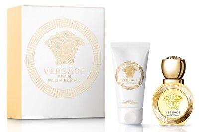 NEW Versace Eros Pour Femme Eau De Toilette 30ml Gift Set EDT Perfume Fragrance