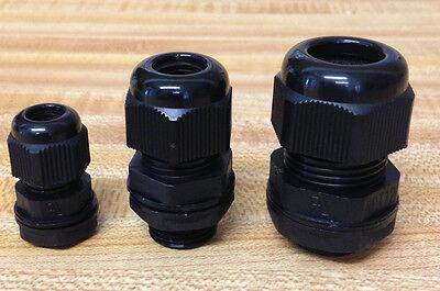 20 Strain Relief Cord Grip Gland Wnutgasket U Pick Sizes 12 38 14 New