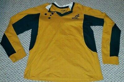 Men's Australia National Rugby Team Sydney Wallabies Long-sleeve Shirt - Large Australia Home Rugby Shirt