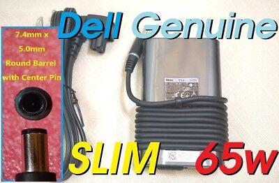 Dell genuine original Latitude Inspiron OEM 65w Slim AC adapter LA65NM130 JNKWD Latitude Inspiron 65w Ac Adapter