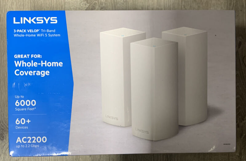 Linksys - Velop AC2200 Tri-Band Mesh Wi-Fi 5 System (3-pack) - White 399.99