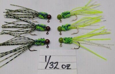 19 pk 1//16 oz Tube Insert Crappie Perch Trout Fishing Jigs Red Aberdeen Hooks