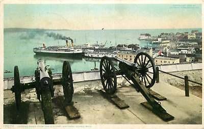 Postcard Harbor View from Fort Mackinac, Mackinac Island, Michigan