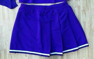 Plus Size Cheerleader Uniforms (Adult Plus Size REAL Purple Pleated Cheerleader Uniform Skirt 36-40 Cosplay)