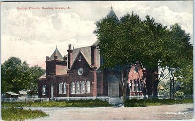 Bowling Green  Missouri  Mo    Baptist Church  1909     Postcard
