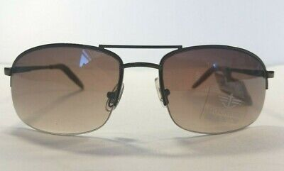 Dockers Sunglasses Semi Rimless Aviator Style Brown Gunmetal (Semi Rimless Aviator Sunglasses)