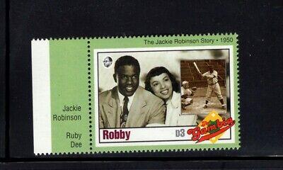 Gambia 1993 Jackie Robinson Story 1950 film  Ruby Dee,  Baseball Movie MNH