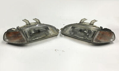 OEM JDM 92-95 Honda Civic EG6 SiR headlights and clear Corners * CLEAN * B16 Si