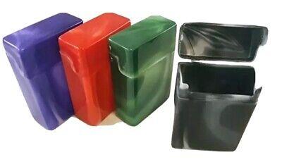 4 Crush-Proof Plastic Flip Top Hinged Lid Cigarette Case Regular King Size 85mm