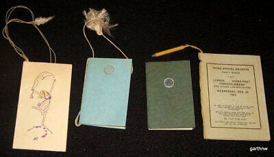 UNIVERSITY OF ARIZONA 1923 & 1925 FOUR PARTY DANCE CARD BOOKLETS HERRING HALL