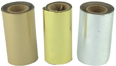 3 Rolls Vintage Kingsley Hot Stamping Foil Silver And Red 3 Colors 3.25 X 1