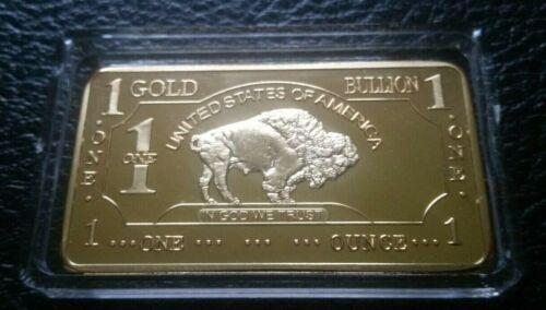 1 OZ Bar 500 Miil .999 Fine Gold Bullion Bar