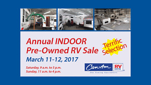 March 11 & 12: Annual Indoor Sales - Pre-Owned RVs
