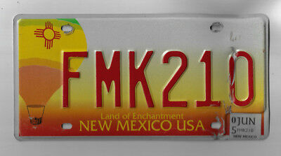 NEW MEXICO Auto License Plate - # FMK210 - Land of Enchantment design - JUN 2005