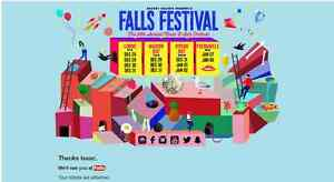 Falls Festival Byron Bay 3 Day Ticket with camping Brisbane City Brisbane North West Preview