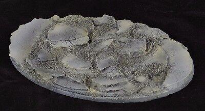 170x105mm Oval Slate Rock Debris Battle Imperial Knight Resin Base Warhammer 40k
