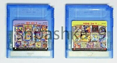 Game Boy Color cartridge 61 in 1 (multi cart for GameBoy, GBC) or 108 games in 1