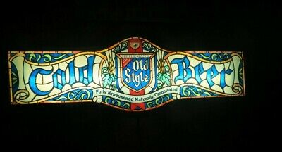 Vintage HEILEMANAN'S OLD STYLE BEER Light Plastic Advertising Sign