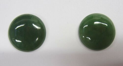 4pcs 10mm Round Natural British Columbia BC Nephrite Jade Cabochon Gemstones Cab