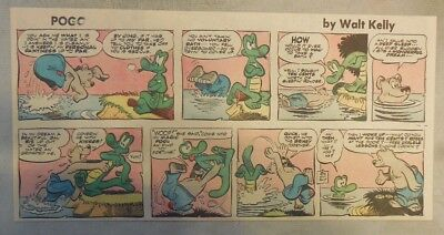 bff750cf78f02 Pogo Sunday by Walt Kelly from 5/25/1958 Third Page Size!