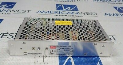 Meanwell S-100f-12 Switching Power Supply 8.5amps 12 Volt 100 Watts New