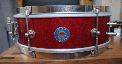 """1950's/1960's Kent Red Sparkle 14"""" x 4-5/8"""" Deep Snare"""