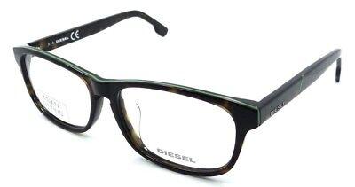 Diesel Rx Eyeglasses Frames DL5197-F 052 56-15-145 Havana Mint Stripe Asian Fit