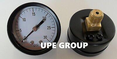 Pressure Gauge Wog Compressor Hydraulic 2.5 Face 0-30 Psi 14 Npt Back Mnt Mi
