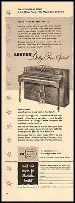 1951 vintage ad for Lester Spinets