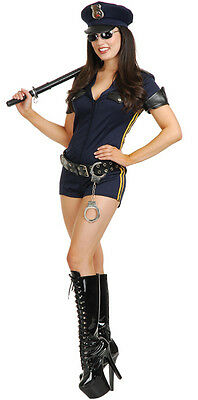 California Cop Romper Costume for Women XS & XL Police New by Charades 02302 - Cop Costumes Women