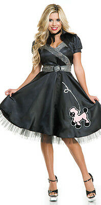 Satin Poodle Dress for Women size Small w/Defect 50's Costume by Charades 02979 (50's Costumes For Halloween)