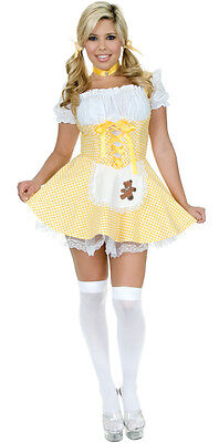 Goldee Locks Goldilocks Fairy Tale Storybook Dress Up Halloween Adult Costume