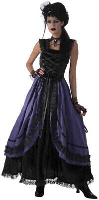Steampunk Gothic Couture Purple Poison Costume Dress Halloween Adult Ladies