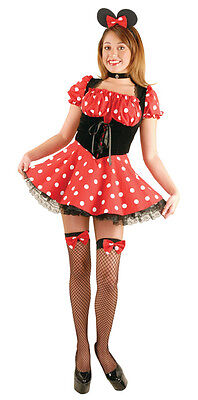 Little Miss Mouse Costume for Women Size S & L Minnie New by Charades (Miss Minnie Kostüme)