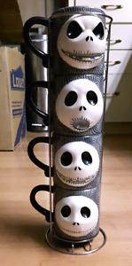 Jack Skellington Nightmare Before Christmas 4 mug set