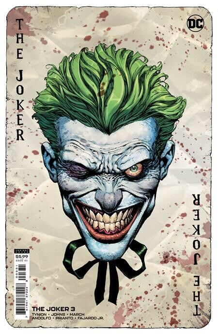 🔥🤡 JOKER #3 DAVID FINCH Cover B Playing Card Variant NM Gemini Shipping